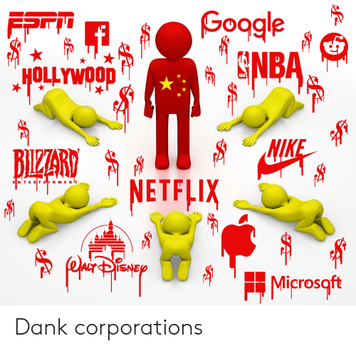 Dank, Netflix, and Nike: Goagle  GNBA  FFT  HOLLYWOOD  NIKE  BIZARD  NETFLIX  क  E N TERTAINMENT  SNE  Microsqft  ি  - इ। Dank corporations