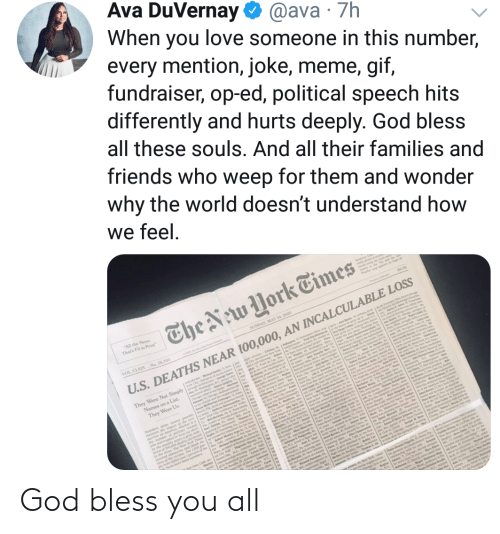Bless You: God bless you all