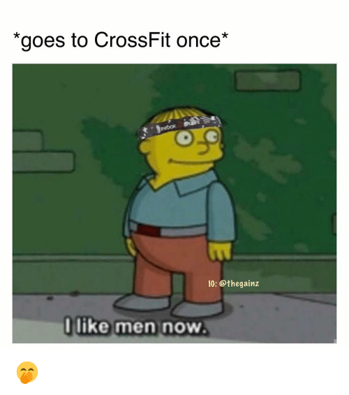 "Memes, Crossfit, and 🤖: ""goes to CrossFit once*  eebok  1C: @thegainz  like men novw 🤭"