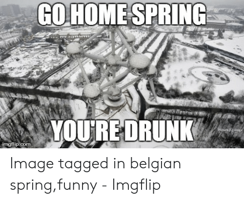 Funny Spring Memes: GOHOME SPRING Image tagged in belgian spring,funny - Imgflip