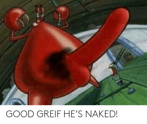 Naked: GOOD GREIF HE'S NAKED!