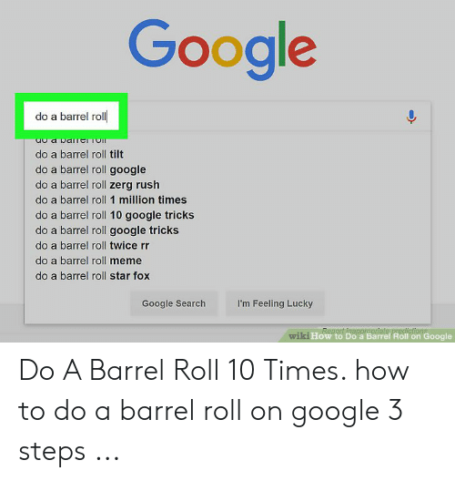 Memes About Do A Barrel Roll Twice Rr