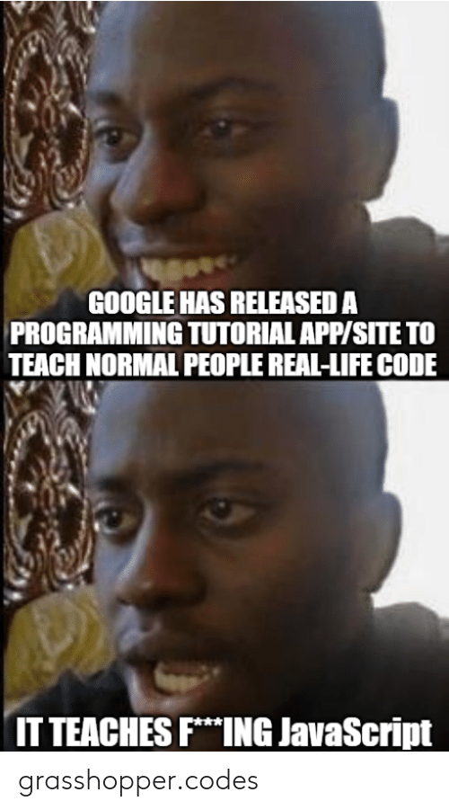 Google, Life, and Programming: GOOGLE HAS RELEASED A  PROGRAMMING TUTORIAL APP/SITE TO  TEACH NORMAL PEOPLE REAL-LIFE CODE  IT TEACHES FING JavaScript grasshopper.codes
