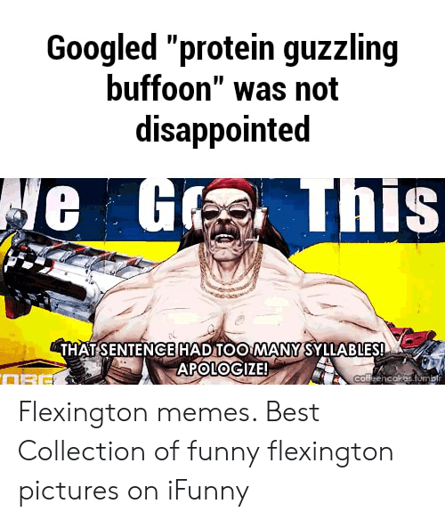 Googled Protein Guzzling Buffoon Was Not Disappointed E G