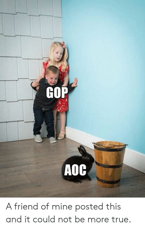 aoc: GOP  AOC A friend of mine posted this and it could not be more true.