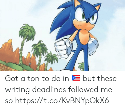 Memes, 🤖, and Got: Got a ton to do in 🇵🇷 but these writing deadlines followed me so https://t.co/KvBNYpOkX6
