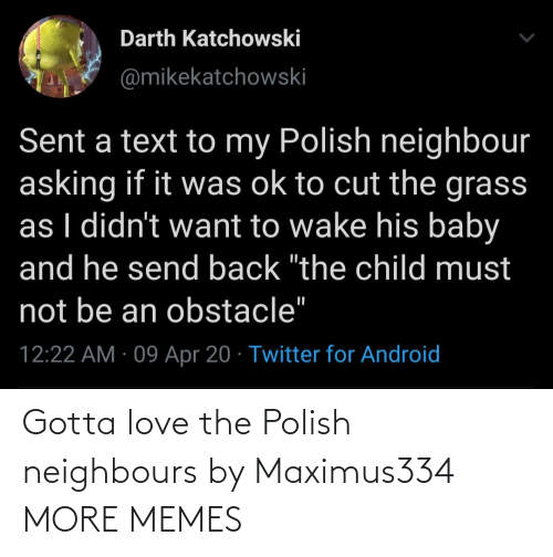 polish: Gotta love the Polish neighbours by Maximus334 MORE MEMES