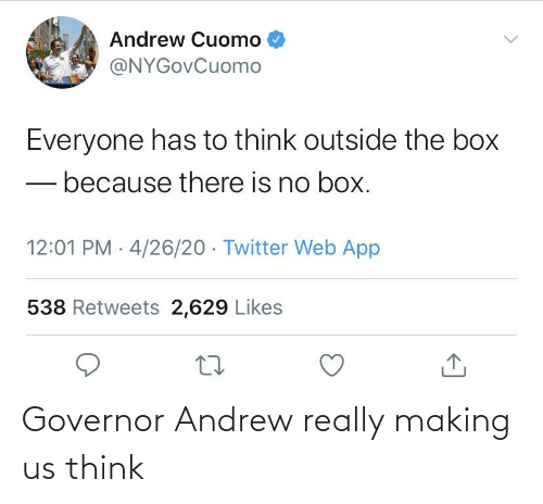 andrew: Governor Andrew really making us think