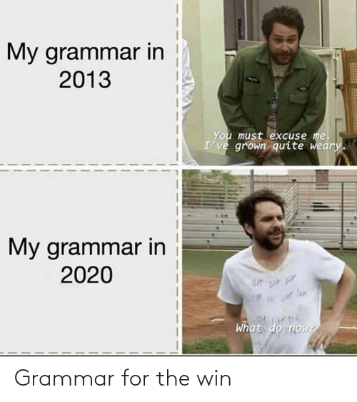 win: Grammar for the win