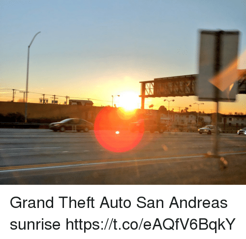 grand theft auto: Grand Theft Auto San Andreas sunrise https://t.co/eAQfV6BqkY