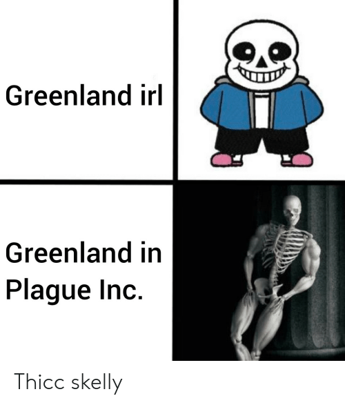 greenland: Greenland irl  Greenland in  Plague Inc. Thicc skelly