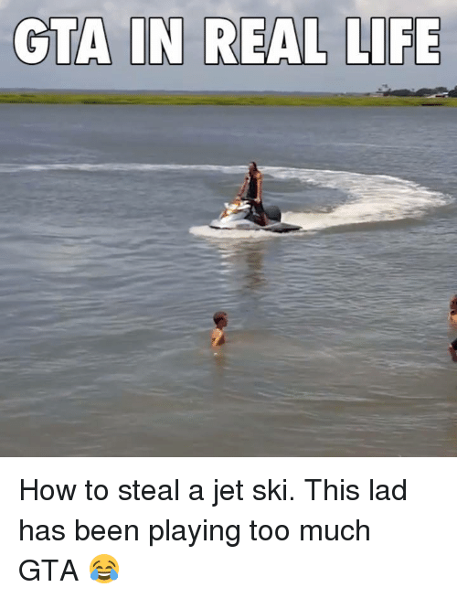How To Steal: GTA IN REAL LIFE How to steal a jet ski. This lad has been playing too much GTA 😂