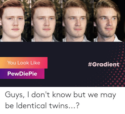 Twins: Guys, I don't know but we may be Identical twins...?