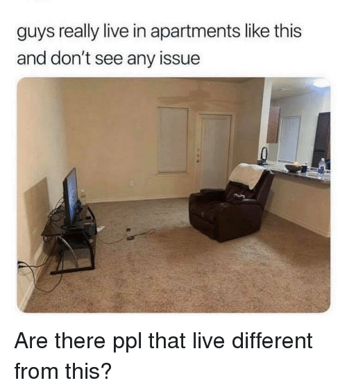 Live, Dank Memes, and Ppl: guys really live in apartments like this  and don't see any issue Are there ppl that live different from this?