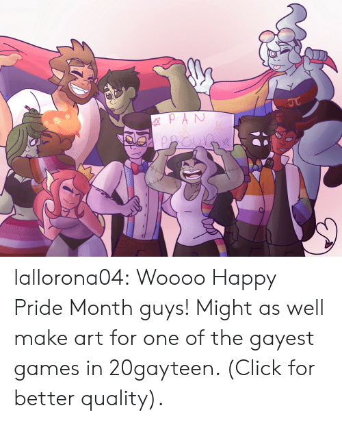 Happy Pride: GXPAN  JT lallorona04:  Woooo Happy Pride Month guys! Might as well make art for one of the gayest games in 20gayteen. (Click for better quality).