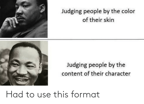use: Had to use this format