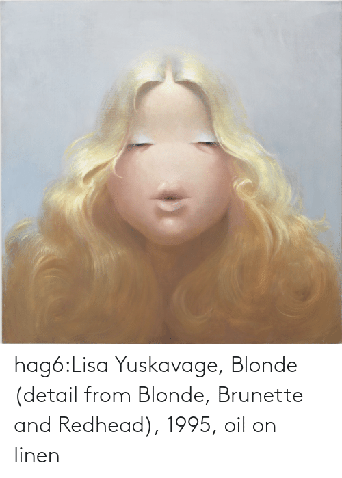 oil: hag6:Lisa Yuskavage, Blonde (detail from Blonde, Brunette and Redhead), 1995, oil on linen