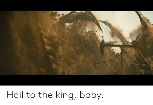 Memes, Baby, and 🤖: Hail to the king, baby.