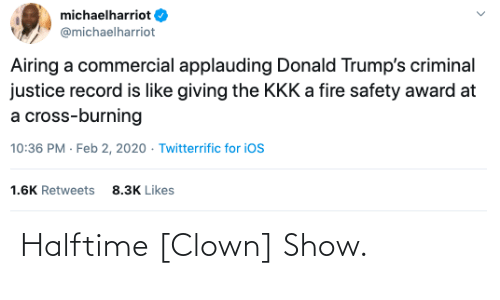clown: Halftime [Clown] Show.