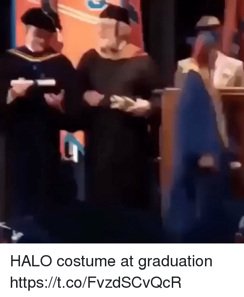 Halo, Halo Costume, and Costume: HALO costume at graduation https://t.co/FvzdSCvQcR