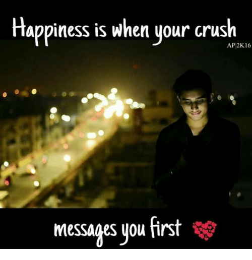 2k16: Happiness is when your crush  AP 2K16  messages you first
