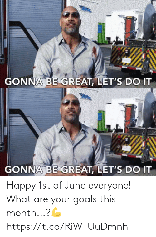 goals: Happy 1st of June everyone! What are your goals this month...?💪 https://t.co/RiWTUuDmnh