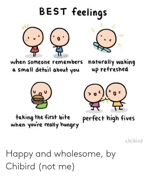 Not Me: Happy and wholesome, by Chibird (not me)