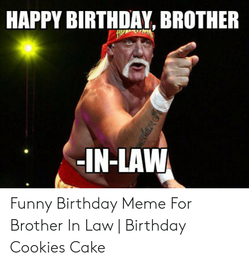 HAPPY BIRTHDAY BROTHER IN LAW Funny Birthday Meme For Brother In Law