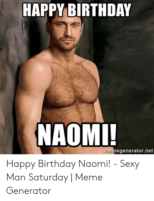 Happy birthday with a sexy guy