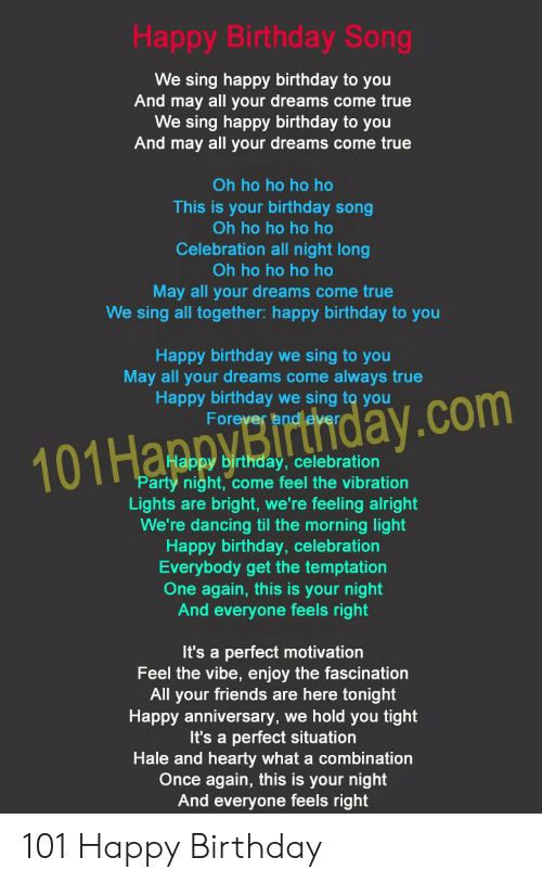 Happy Birthday Song We Sing Happy Birthday to You and May All Your