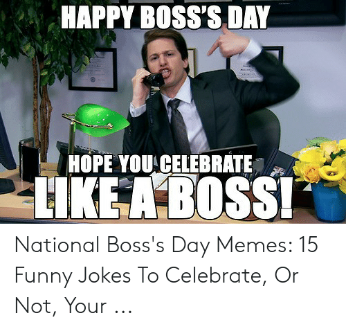 HAPPY BOSS'S DAY HOPE YOU CELEBRATE HKEABOSS National Boss's Day