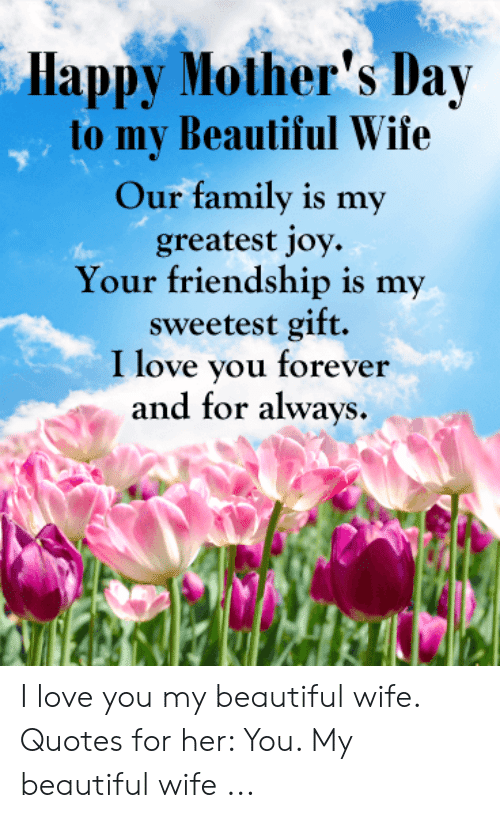 Happy Mother\'s Day to My Beautiful Wife Our Family Is My ...