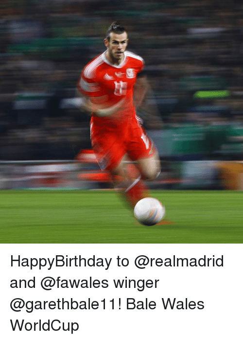 winger: HappyBirthday to @realmadrid and @fawales winger @garethbale11! Bale Wales WorldCup