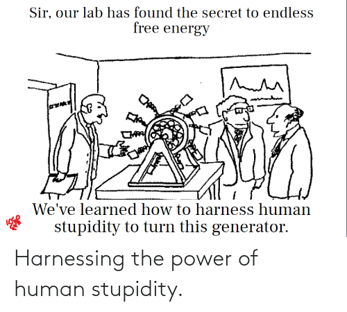 human: Harnessing the power of human stupidity.