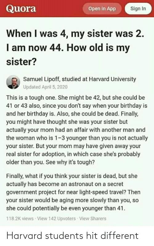 hit: Harvard students hit different