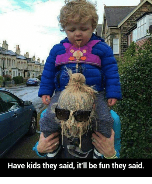 Have Kids They Said: Have kids they said, it'll be fun they said.
