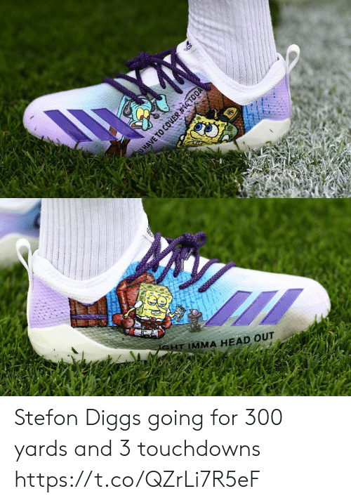 Football, Head, and Nfl: HAVE TO COVER #14TODA   SHT IMMA HEAD OUT Stefon Diggs going for 300 yards and 3 touchdowns https://t.co/QZrLi7R5eF