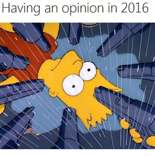 Memes, 🤖, and Opinions: Having an opinion in 2016