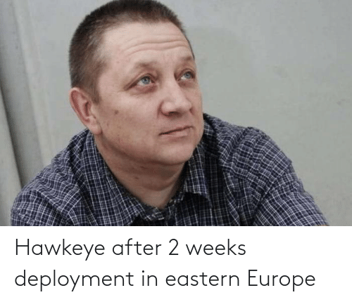 Europe: Hawkeye after 2 weeks deployment in eastern Europe