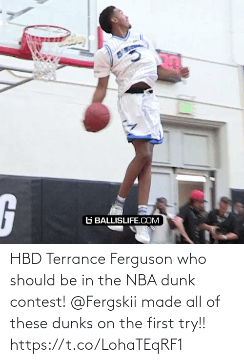 Ferguson: HBD Terrance Ferguson who should be in the NBA dunk contest!   @Fergskii made all of these dunks on the first try!!   https://t.co/LohaTEqRF1