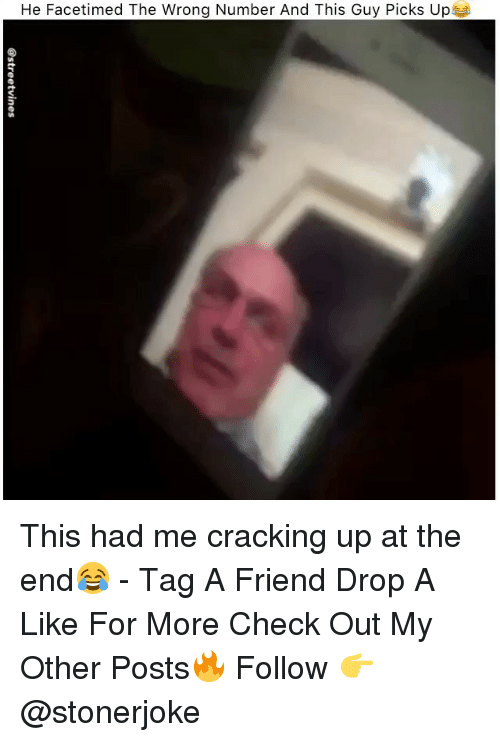 Cracking Up: He Facetimed The Wrong Number And This Guy Picks Up This had me cracking up at the end😂 - Tag A Friend Drop A Like For More Check Out My Other Posts🔥 Follow 👉 @stonerjoke