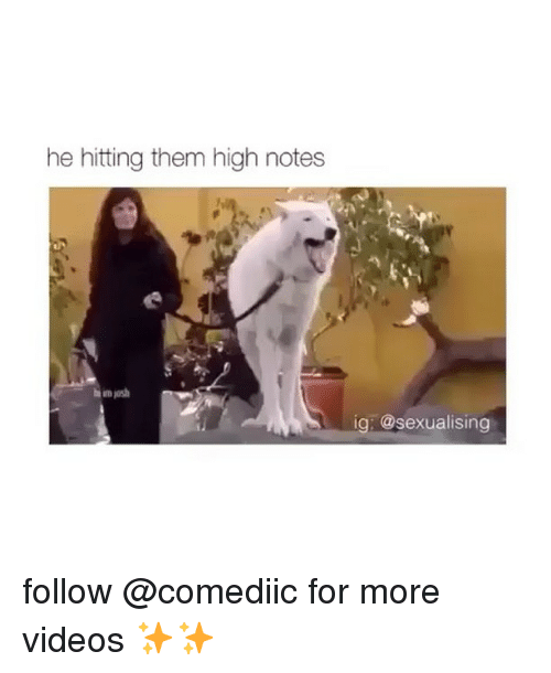 Sexualising: he hitting them high notes  ig: @sexualising follow @comediic for more videos ✨✨