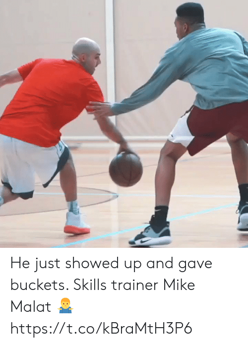 Memes, 🤖, and Mike: He just showed up and gave buckets. Skills trainer Mike Malat 🤷‍♂️ https://t.co/kBraMtH3P6