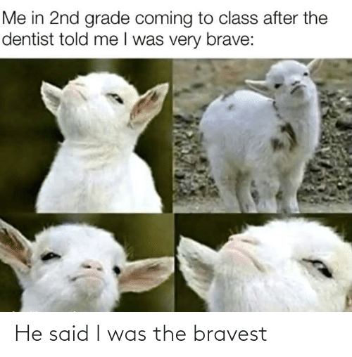 said: He said I was the bravest