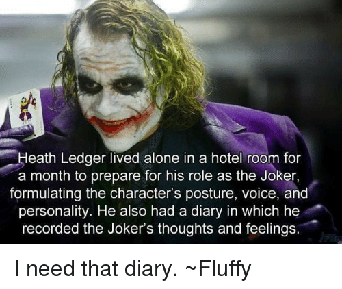 heath ledger lived alone in a hotel room for a month to prepare for