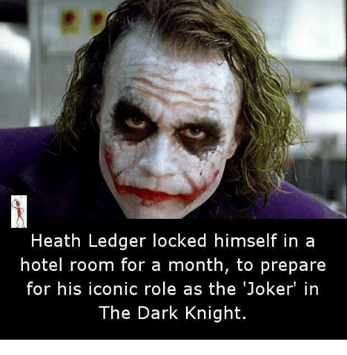 heath ledger locked himself in a hotel room for a month to prepare