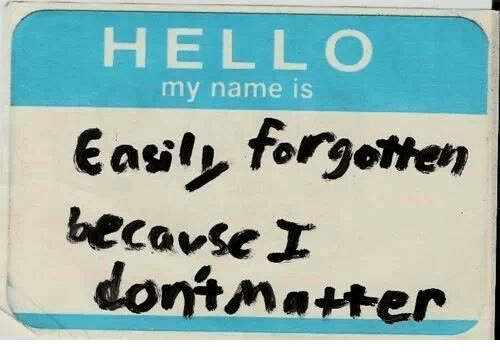 Hell, Name, and My Name Is: HELL O  my name is  asilp, forgotten  because  dontMatwer