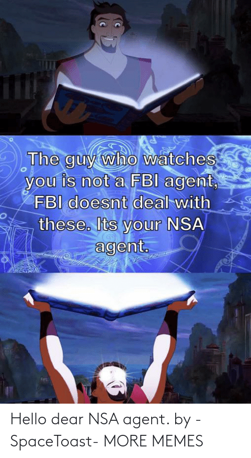dear: Hello dear NSA agent. by -SpaceToast- MORE MEMES