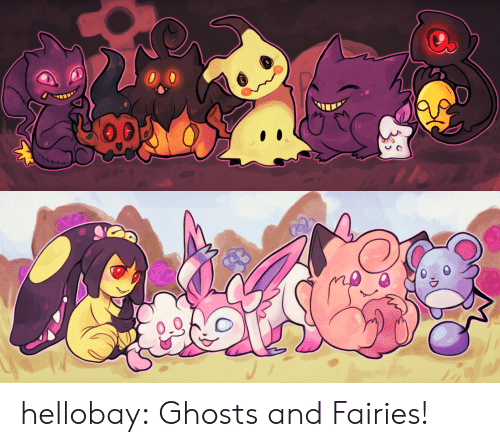 Fairies: hellobay: Ghosts and Fairies!