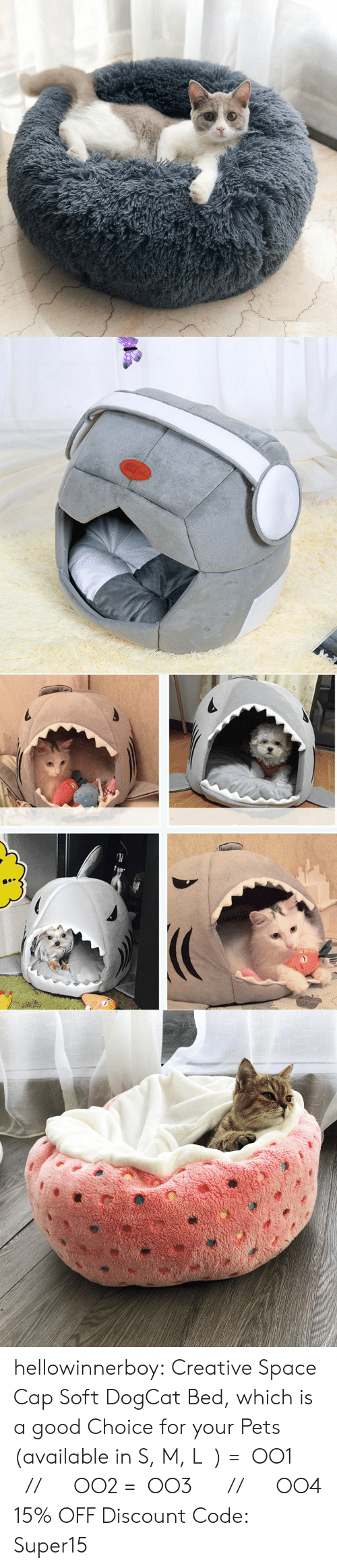 Tumblr, Blog, and Pets: hellowinnerboy: Creative Space Cap Soft DogCat Bed, which is a good Choice for your Pets (available in S, M, L  ) =  OO1       //      OO2  =  OO3      //      OO4  15% OFF Discount Code: Super15